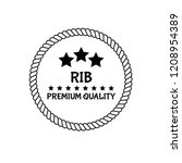 rib premium quality badge.... | Shutterstock .eps vector #1208954389