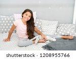 enjoying happy childhood. happy ... | Shutterstock . vector #1208955766