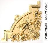 3d rendering beautiful golden... | Shutterstock . vector #1208957050