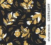 beautiful seamless pattern ... | Shutterstock .eps vector #1208961049