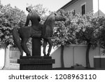 statue of the messenger at...   Shutterstock . vector #1208963110