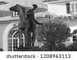 statue of messenger at schloss...   Shutterstock . vector #1208963113