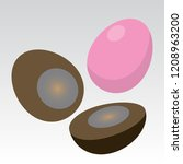 century egg  pidan  old... | Shutterstock .eps vector #1208963200