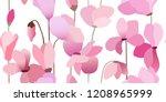 seamless flowers pattern.... | Shutterstock .eps vector #1208965999