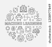 machine learning concept round... | Shutterstock .eps vector #1208977849