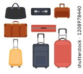 luggage travel bags vector...   Shutterstock .eps vector #1208978440