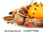 composition of christmas spices ... | Shutterstock . vector #120897988
