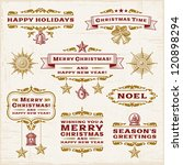 vintage christmas labels | Shutterstock . vector #120898294