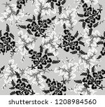 seamless black and grey small... | Shutterstock .eps vector #1208984560