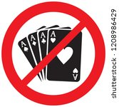 four aces not allowed sign ... | Shutterstock .eps vector #1208986429