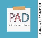 pad peripheral artery disease... | Shutterstock .eps vector #1208986480