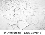dried and cracked natural soil... | Shutterstock . vector #1208989846