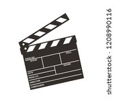 clapboard from cinematography | Shutterstock .eps vector #1208990116
