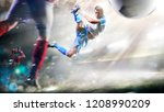soccer players in action on the ... | Shutterstock . vector #1208990209