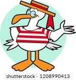 gull cartoon character | Shutterstock .eps vector #1208990413