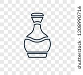 perfume bottle concept vector... | Shutterstock .eps vector #1208990716