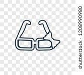 childish eyeglasses concept... | Shutterstock .eps vector #1208990980