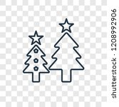 christmas tree concept vector... | Shutterstock .eps vector #1208992906