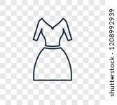 vintage dress concept vector... | Shutterstock .eps vector #1208992939