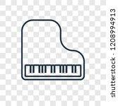 piano concept vector linear... | Shutterstock .eps vector #1208994913