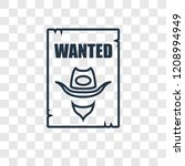wanted concept vector linear... | Shutterstock .eps vector #1208994949