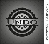 undo black emblem. vintage.   Shutterstock .eps vector #1208999719