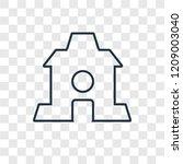 home concept vector linear icon ...