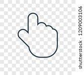 tap concept vector linear icon...