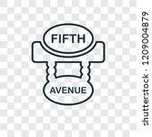 fifth avenue concept vector... | Shutterstock .eps vector #1209004879