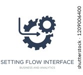 setting flow interface symbol... | Shutterstock .eps vector #1209006400