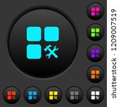 component tools dark push... | Shutterstock .eps vector #1209007519