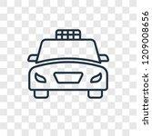 taxi fron view concept vector...