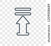 upload arrow with bar concept... | Shutterstock .eps vector #1209008689