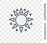sun concept vector linear icon...
