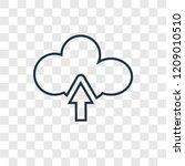 upload concept vector linear... | Shutterstock .eps vector #1209010510