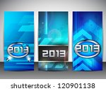 website banners set for happy... | Shutterstock .eps vector #120901138