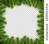 vector christmas square frame... | Shutterstock .eps vector #1209011416