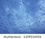 on a rainy day  see the water... | Shutterstock . vector #1209016456