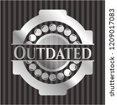 outdated silver shiny emblem | Shutterstock .eps vector #1209017083