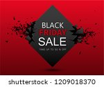 black friday sale red geometric ... | Shutterstock .eps vector #1209018370