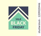 flat design of black friday... | Shutterstock .eps vector #1209020446