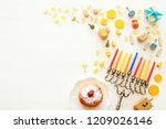 top view image of jewish... | Shutterstock . vector #1209026146