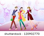 woman street | Shutterstock .eps vector #120902770