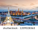 grand palace and wat phra keaw... | Shutterstock . vector #1209028363