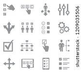 option icons. gray flat design. ...