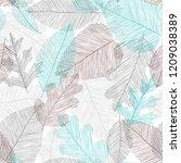 beautiful seamless doodle...   Shutterstock .eps vector #1209038389