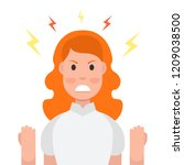 anger. the evil woman expresses ... | Shutterstock .eps vector #1209038500