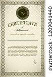 classic certificate of... | Shutterstock .eps vector #1209041440