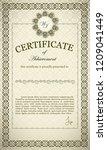 classic certificate of... | Shutterstock .eps vector #1209041449