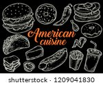 american traditional food...   Shutterstock .eps vector #1209041830